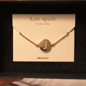"""Kate Spade """"J"""" Bracelet"""